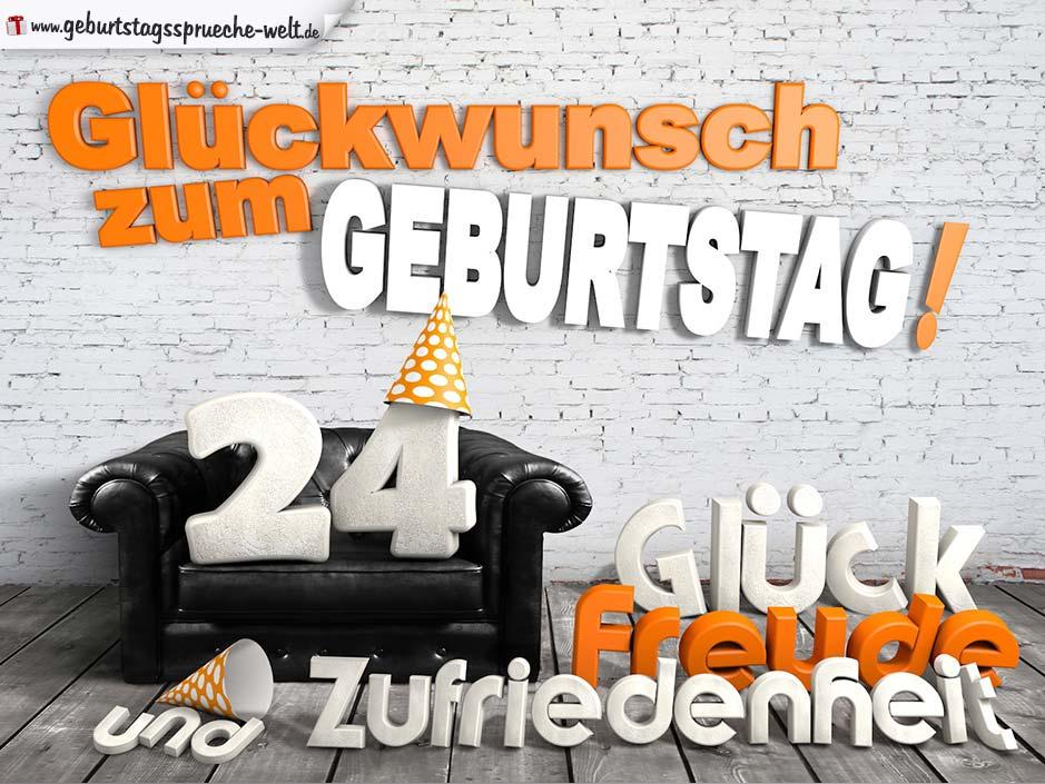 Geburtstagskarte Als Parkscheibe Zum 24 Geburtstag