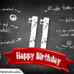 Komplimente und Sprüche zum 11. Geburtstag auf Tafel geschrieben