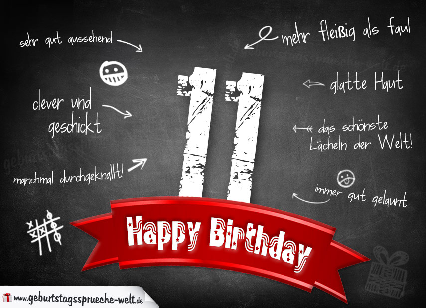 Geburtstagswünsche 11. Geburtstag