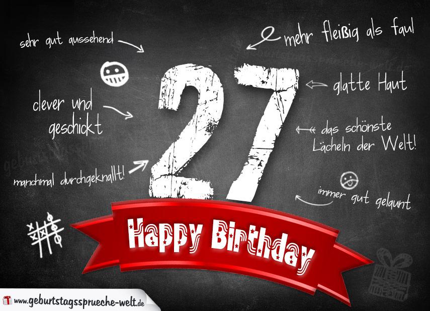 27 Geburtstag Lustige Sprüche Sprüche