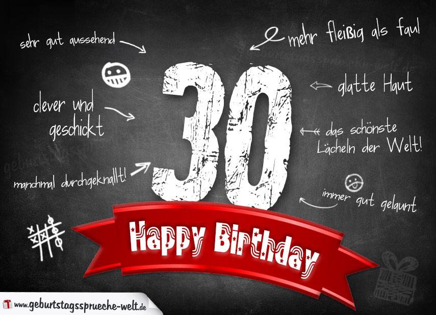 komplimente geburtstagskarte zum 30. geburtstag happy birthday