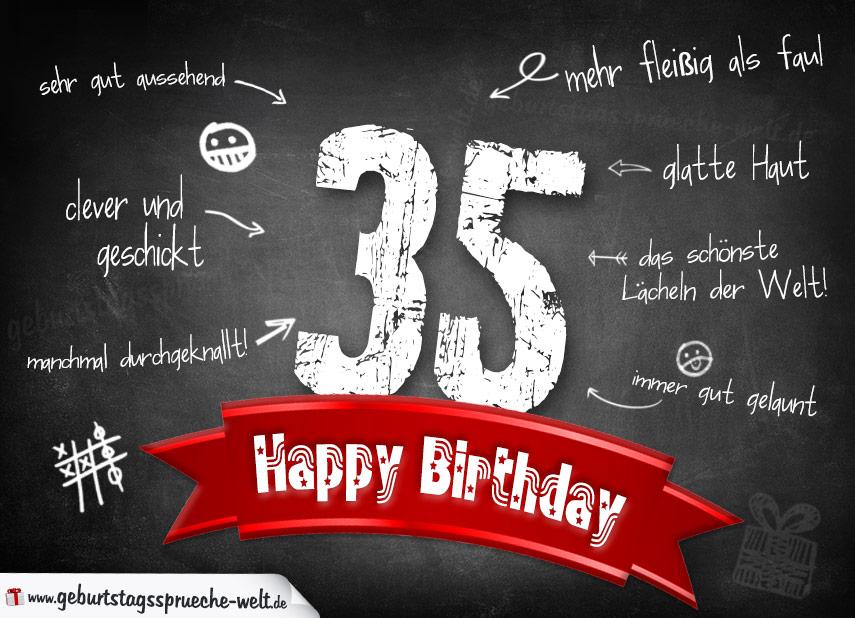 Wunsche zum 35 geburtstag