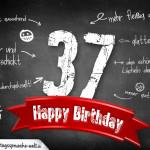 Komplimente und Sprüche zum 37. Geburtstag auf Tafel geschrieben