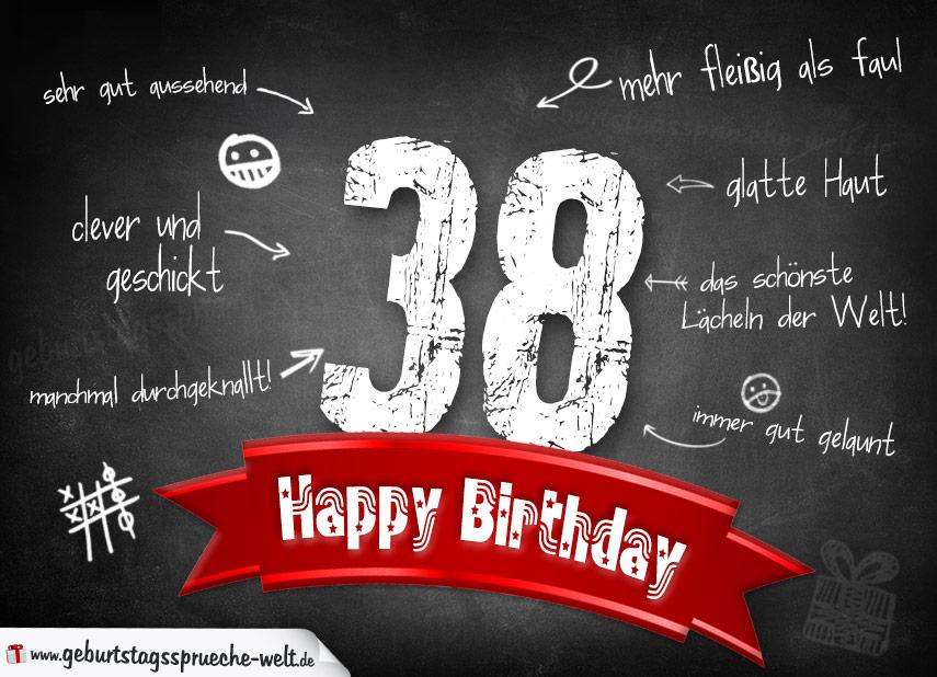 Komplimente Geburtstagskarte Auf Tafel Geburtstagssprüche
