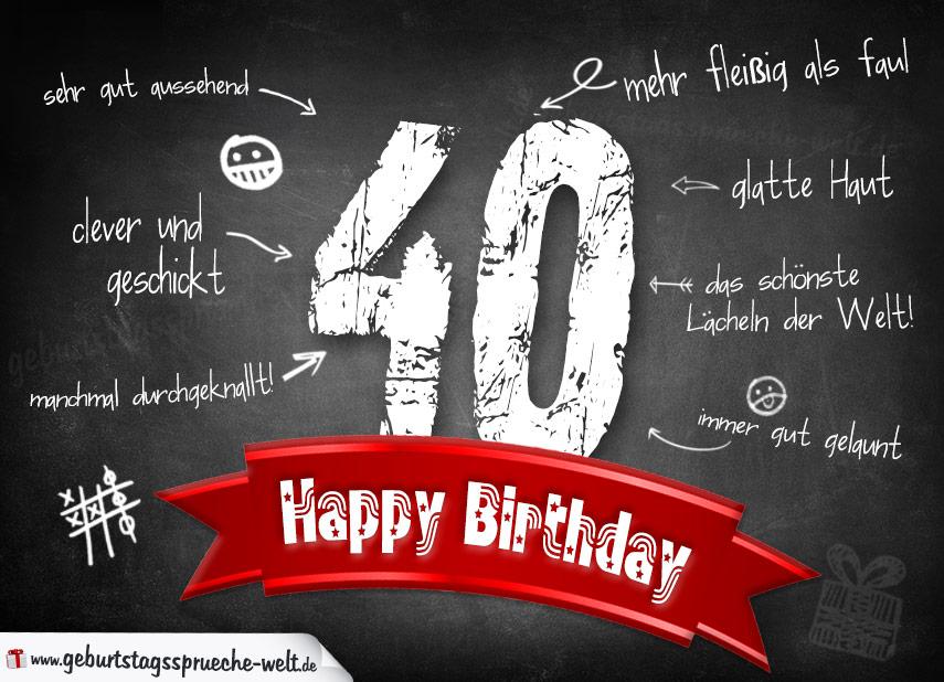 Geburtstagssprüche Zum 40 Frau – Lustige Bilder