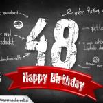 Komplimente und Sprüche zum 48. Geburtstag auf Tafel geschrieben