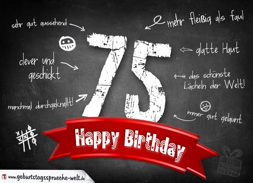 Zum 75 Geburtstag Sprüche