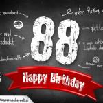 Komplimente und Sprüche zum 88. Geburtstag auf Tafel geschrieben