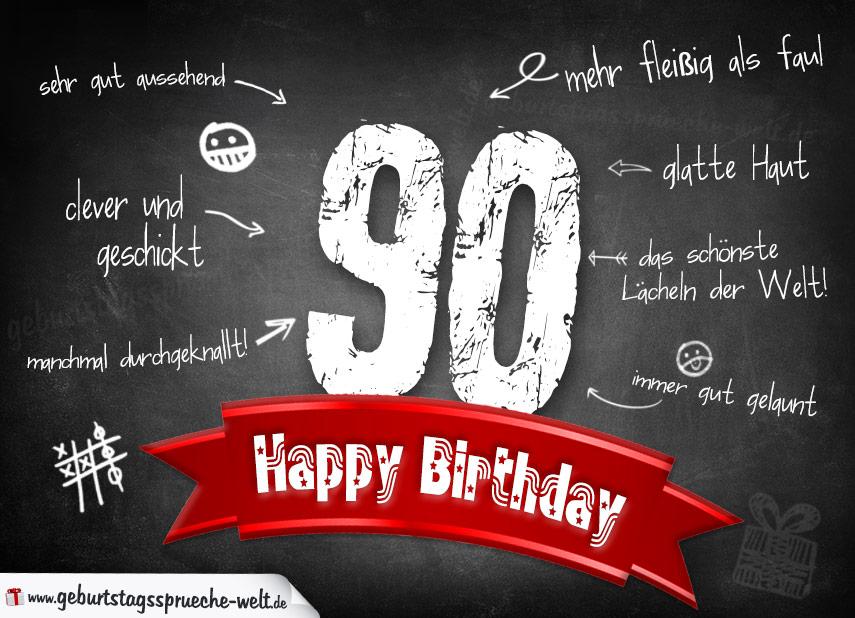 komplimente geburtstagskarte zum 90. geburtstag happy birthday