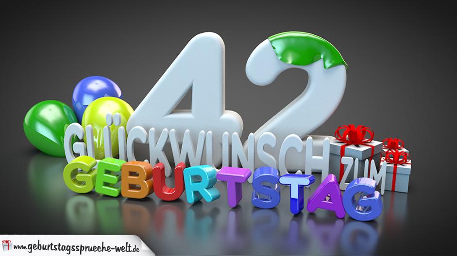 42 Geburtstag