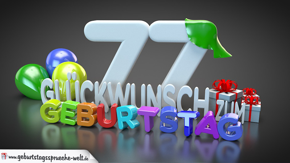 77 Geburtstag