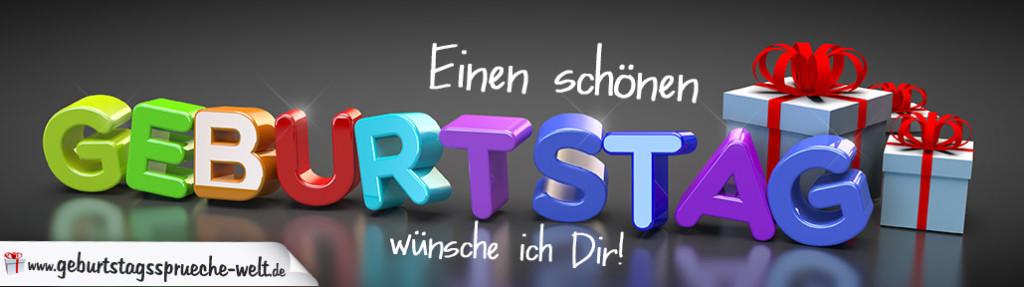 Edle Karte Zum Geburtstag Mit Bunten 3D Buchstaben