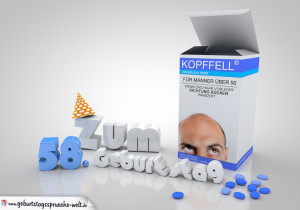 Freche Geburtstagskarte für Männer 58 Jahre