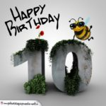 Happy Birthday 3D - 10. Geburtstag
