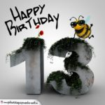 Happy Birthday 3D - 13. Geburtstag