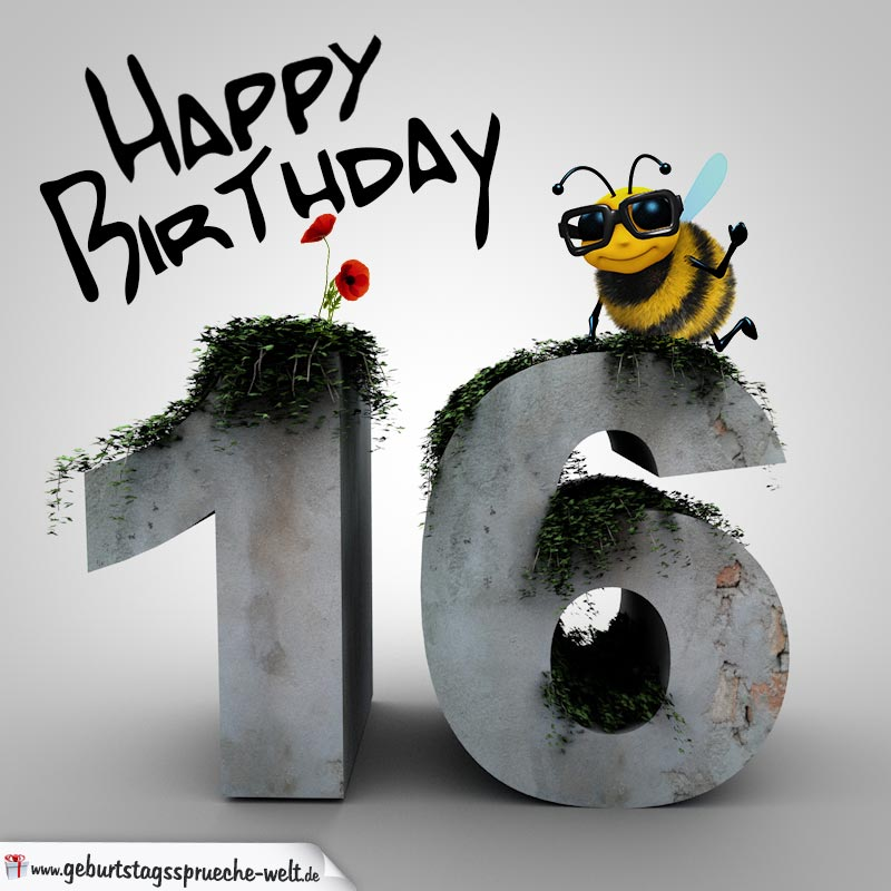 Happy Birthday 3d 16 Geburtstag Geburtstagsspruche Welt