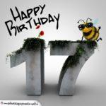 Happy Birthday 3D - 17. Geburtstag