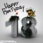 Happy Birthday 3D - 18. Geburtstag