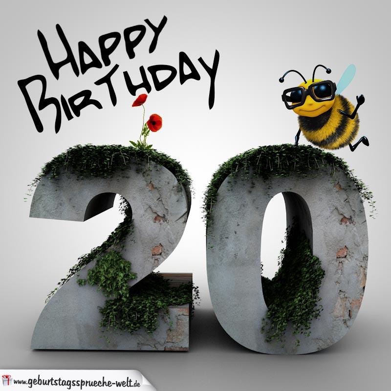 Happy Birthday 3d 20 Geburtstag Geburtstagssprüche Welt