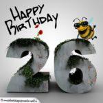 Happy Birthday 3D - 26. Geburtstag
