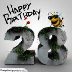 Happy Birthday 3D - 28. Geburtstag