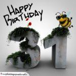 Happy Birthday 3D - 31. Geburtstag