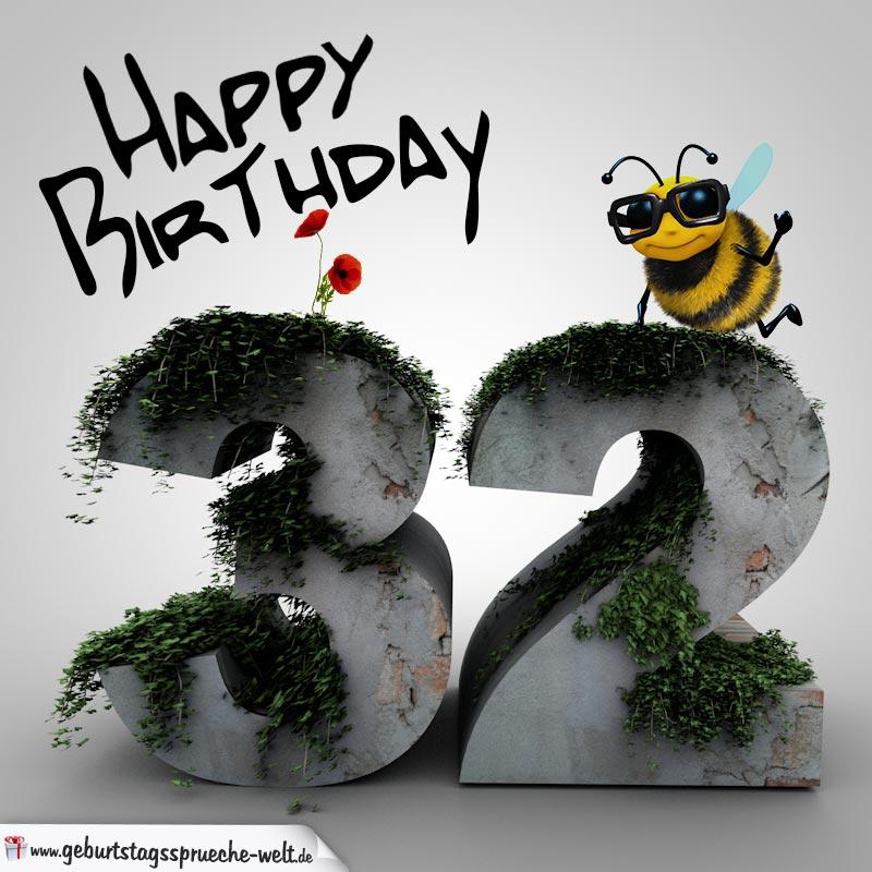 Happy Birthday 3D U2013 32. Geburtstag