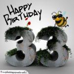 Happy Birthday 3D - 33. Geburtstag