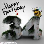 Happy Birthday 3D - 34. Geburtstag