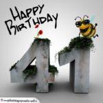 Happy Birthday 3D - 41. Geburtstag