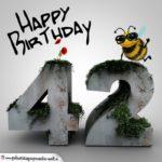 Happy Birthday 3D - 42. Geburtstag