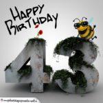 Happy Birthday 3D - 43. Geburtstag