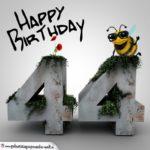 Happy Birthday 3D - 44. Geburtstag