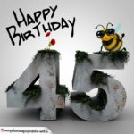 Happy Birthday 3D - 45. Geburtstag