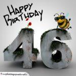 Happy Birthday 3D - 46. Geburtstag