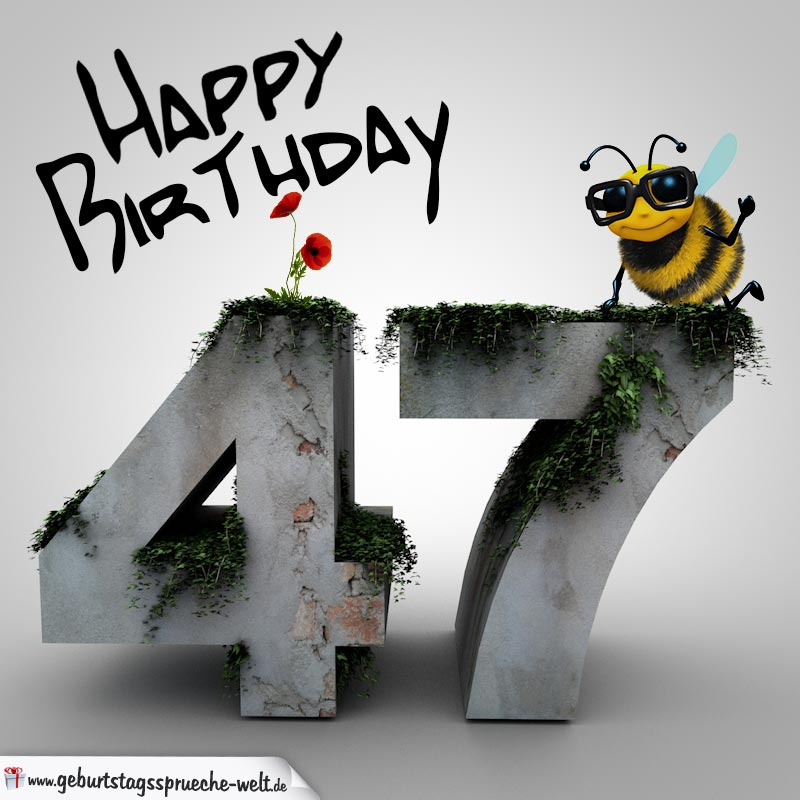 Geburtstagswunsche mann 47