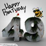 Happy Birthday 3D - 49. Geburtstag