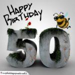 Happy Birthday 3D - 50. Geburtstag