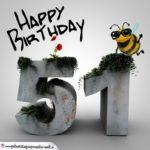 Happy Birthday 3D - 51. Geburtstag