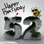 Happy Birthday 3D - 52. Geburtstag