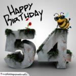 Happy Birthday 3D - 54. Geburtstag