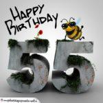Happy Birthday 3D - 55. Geburtstag