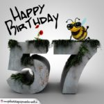 Happy Birthday 3D - 57. Geburtstag