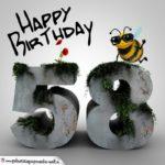 Happy Birthday 3D - 58. Geburtstag