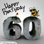Happy Birthday 3D - 60. Geburtstag