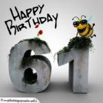 Happy Birthday 3D - 61. Geburtstag