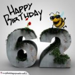 Happy Birthday 3D - 62. Geburtstag