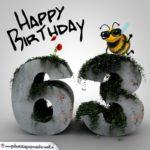 Happy Birthday 3D - 63. Geburtstag