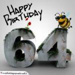Happy Birthday 3D - 64. Geburtstag