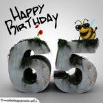 Happy Birthday 3D - 65. Geburtstag